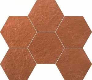 TUBADZIN CRUDE COPPER HEX мозаика
