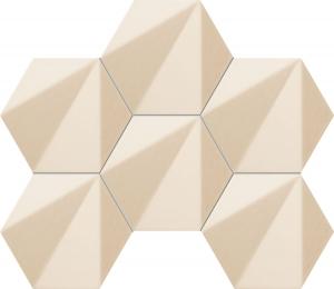 TUBADZIN CHENILLE BEIGE HEX мозаика