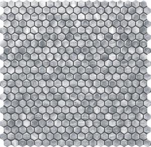 TUBADZIN DROPS METAL SILVER мозаика